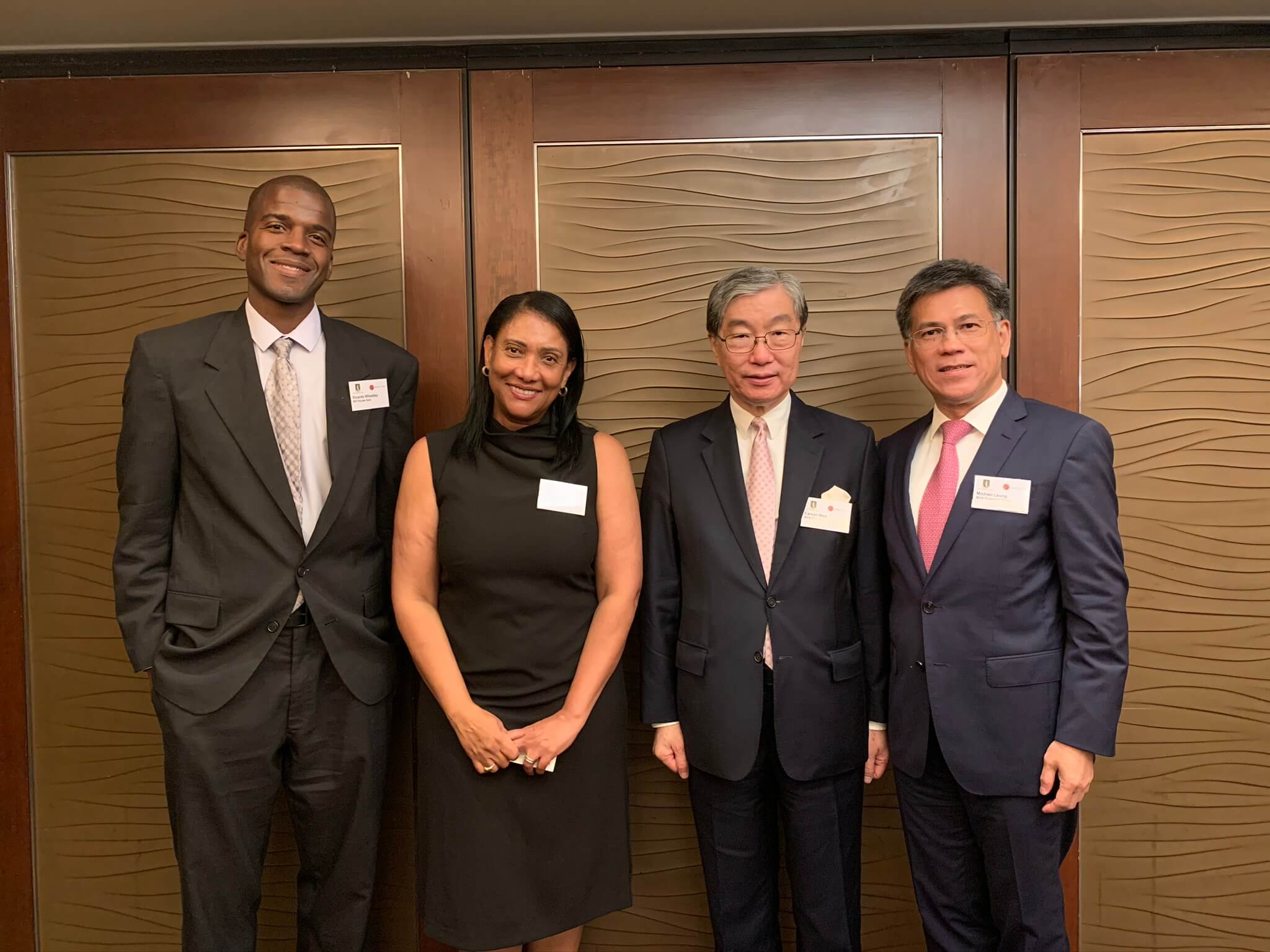 From Left to Right: Dr. Ricardo Wheatley, Director of BVI House of Asia; Mrs. Sherri Ortiz, Former Director of BVI House of Asia; Mr. Carson Wen, Founder and Chairman of Bank of Asia; Mr. Michael Leung; CEO of BOA International Financial group.